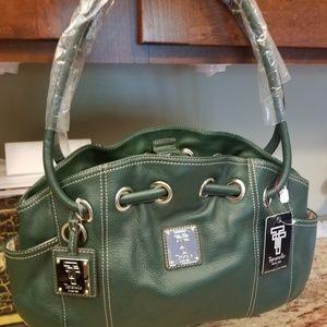 Tignanello hunter green purse